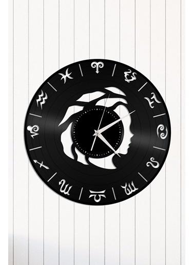 Angemiel Home Başak Burç Astroloji Pleksi Duvar Saati Siyah